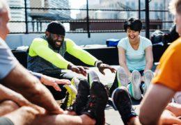 Szybka energia podczas intensywnego treningu